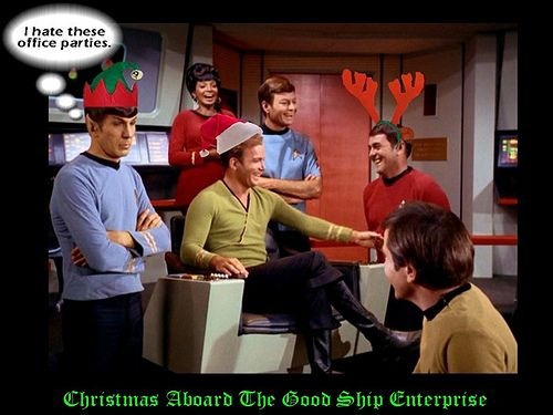Happy Christmas. Live long and prosper. Drink eggnog.